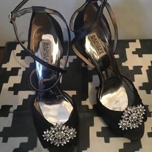 Badgley Mischka heels stilettos bridesmaid 9.5